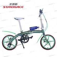 Manufacture 16inch Foldable Aluminum Disc-Brake Bike