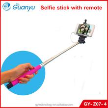 2015 Factory Hot sale Extendable Handheld Portrait selfie stick