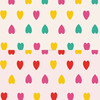 Super Cotton Brushed Colored Hearts Printed Flannel Fabric