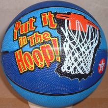 low cost blank rubber basketballs promotional 5