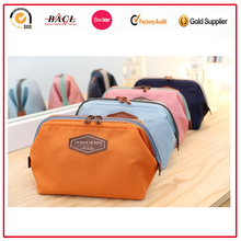 Portable lovely travel plain makeup bag for girls