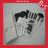 20pcs professional face cosmetic set,wholesale price beauty needs makeup brush set,white leather bag