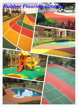 Outdoor Rubber Flooring For Sports Court, EPDM Rubber Flooring Outdoor -FN-D150536
