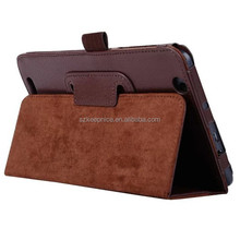 Lychee folding back stand leather case for Acer B1-750 case