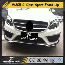 W205 Sport Carbon Fiber Front BUmper Lip, C Class Auto Car Front Spoiler for Mercedes C200 C180 C260