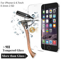 2.5D 0.26mm Premium Tempered Glass Screen Protector for iPhone 6 4.7inch