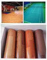 commercial pvc flooring for sports, Badminton/Basketball/tennis