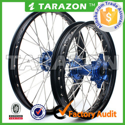 Wholesale Tarazon Brand CNC Aluminum Motocross 21/18 Inch Motorcycle Spoke Wheel Sets for YZ125/250