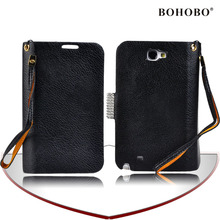 Purse pu leather case for samsung galaxy note2 n7100
