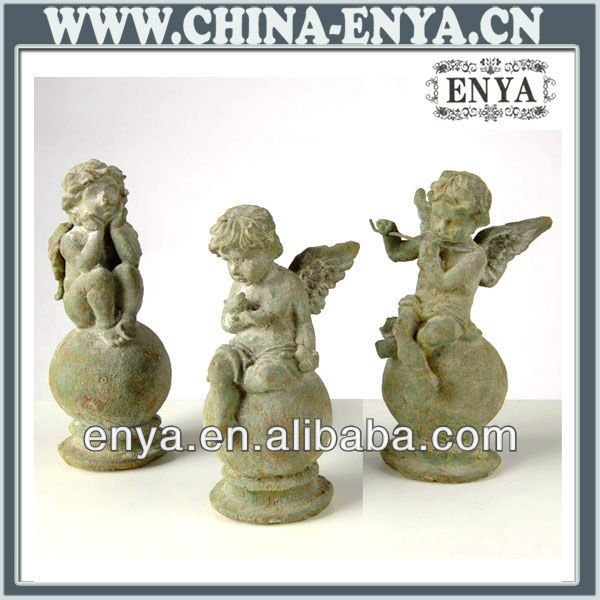 Angel Statues Figurines Antique Metal Crafts For Home
