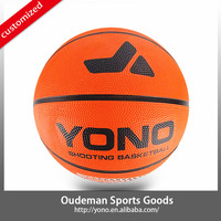 2015 YONO New style official size rubber basketball