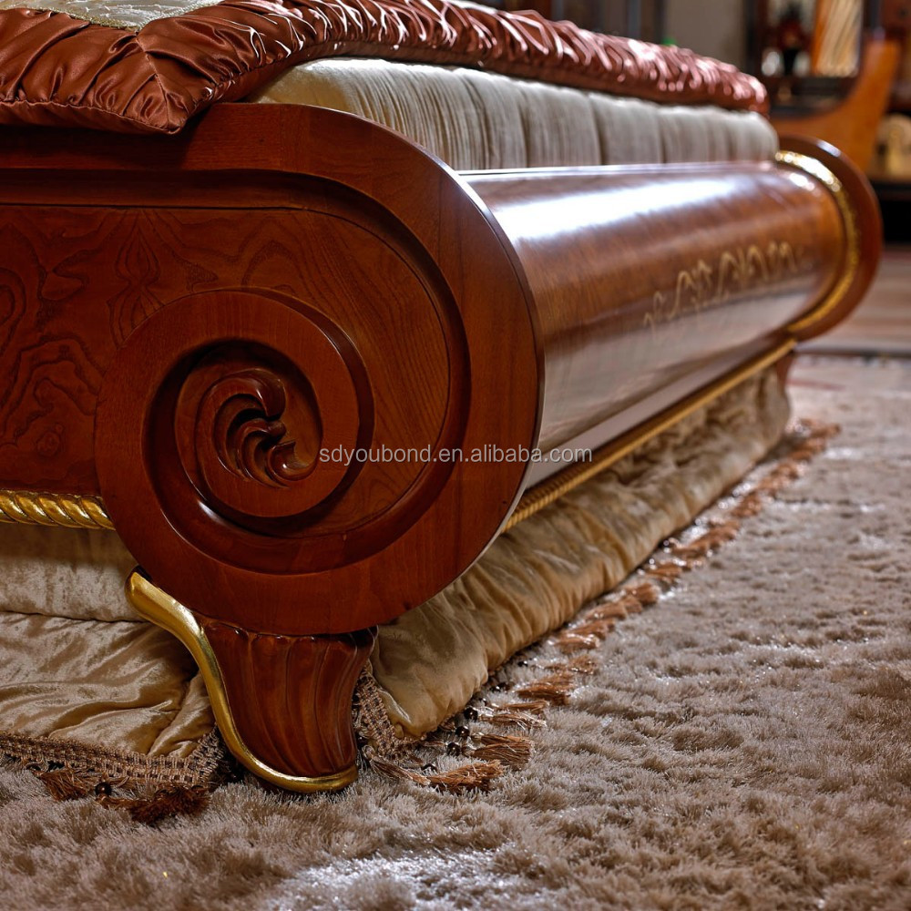 0038 European Classic Solid Wood Bedroom Furniture High Quality Luxury Royal Bed Set View Bed