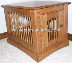 DC-1005,Dog crate with wood cover