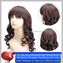 Hot sale best quality top kanekalon synthetic long curly wigs, wholesale hair moscow