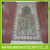 B7 unique oriental handmade 100% pure silk carpet persian area rug