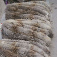 Wholesale animal fur 100% raw material raccoon fur trim for hood