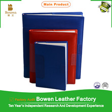 BOWEN - 0043 low price leather executive organizer / leather organizer planner agenda notebook with different colors