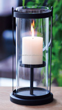 4A252-S METAL+GLASS CANDLE HOLDER/LANTERN