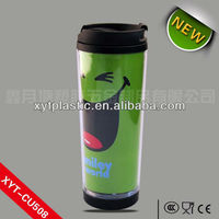 500ml double wall plastic advertising cup with paper insert