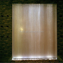 Professional lighting stage backdrop deco color changing fiber optic led light curtain
