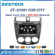 ZESTECH digital screen car dvd player for Honda city with GPS/SWC/RADIO/ BT/ATV/RDS