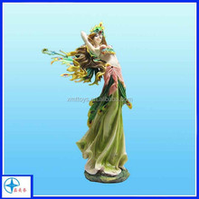 beautiful resin dancing fairy on the swing statue,fairy garden decoration