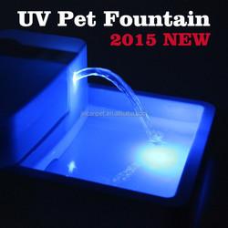Dog& cat water fountain beautiful blue LED light