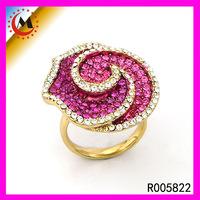 18K ROSE GOLD RING,SORTIJA DE ORO ROSA ANILLO DE ORO WITH ROSE SHAPE