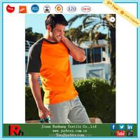 Custom mens polyester raglan sleeve two tone boys t shirt