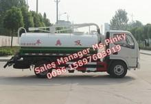 Min Fecal / esgoto Tanker Truck 4500L para 5000 litros de capacidade do tanque de sucção a vácuo DAFC Euro 4 95HP motor Diesel vendas quentes