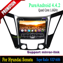 Quad core Android 4.4 For Hyundai Sonata multimedia/car audio system /android radio with gps bluetooth DVD