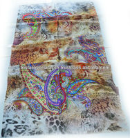 European Print styles Pure Silk Scarf / Modern print design silk scarves shawl