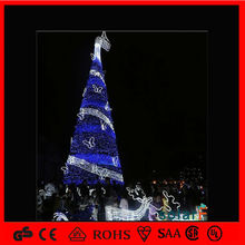 China outdoor blue christmas tree with butterfly