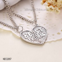 Yiwu Jewellry Hot New Products Broken Heart Necklace 2015 Unique Best Friend Birthday Gifts
