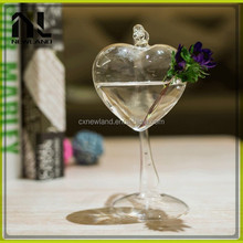Heart star shape wholesale cheap home party chinese modern german glass vase
