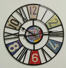 Rustic Metal Decor Antique Clock Wall