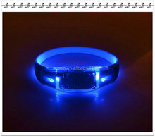 size adjustable led sound motion sensor flashing wristband bracelets for vocal concerts night pubs