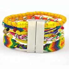 Adjustable wire beads bangles bracelet wholesale,Bohemian magnetic clasp bracelets,brizal top sale for 2015 women jewelry