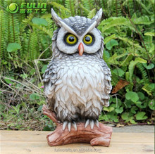 Home Decoration Polyresin Owl Statue 10""