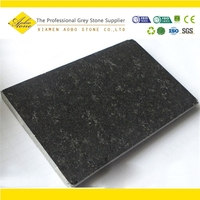 Black Basalt 100x100 flamed brushed granite tiles