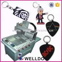 Rubber keyring PVC keychain micro injection machine