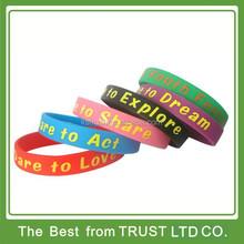 silicone wristband for explore, silicone bracelet for faith