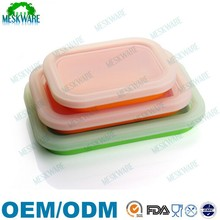 Factory wholesale price silicone folding lunch container