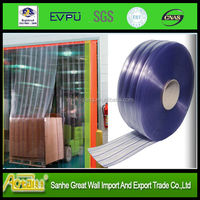 the roll of polar freezer transparent clear flexible soft PVC plastic Door Curtain