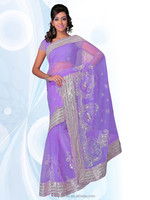 2015 summer purple saree india boutique clothing with border embroidery design , India clothing wholesale