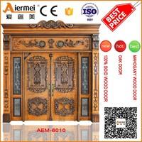 double oak door 100% original PURE solid wood door front main villa entrance door