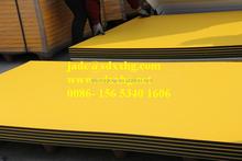 4'X8' plastic HDPE Sheet, orange skin hdpe plate; HDPE plastic for playground equipment