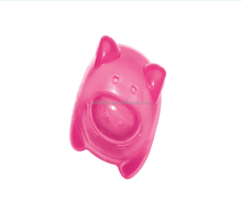 Squeaking rubber pink Pig Dog Toy high quality pet toy