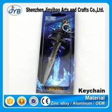 fancy custom game theme like world of warcraft keychain for wholesale