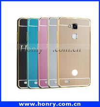 Newest product Aluminum Metal Bumper + back cover case for Huawei Mate 7